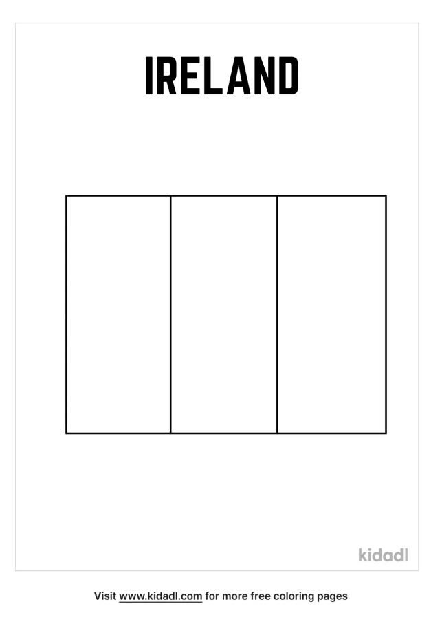 Irish Flag Coloring Pages  Free World, Geography & Flags Coloring