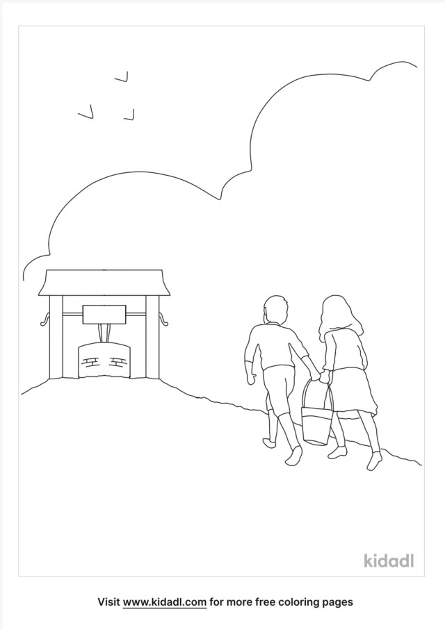 Jack And Jill Coloring Pages  Free Fairytales & Stories Coloring