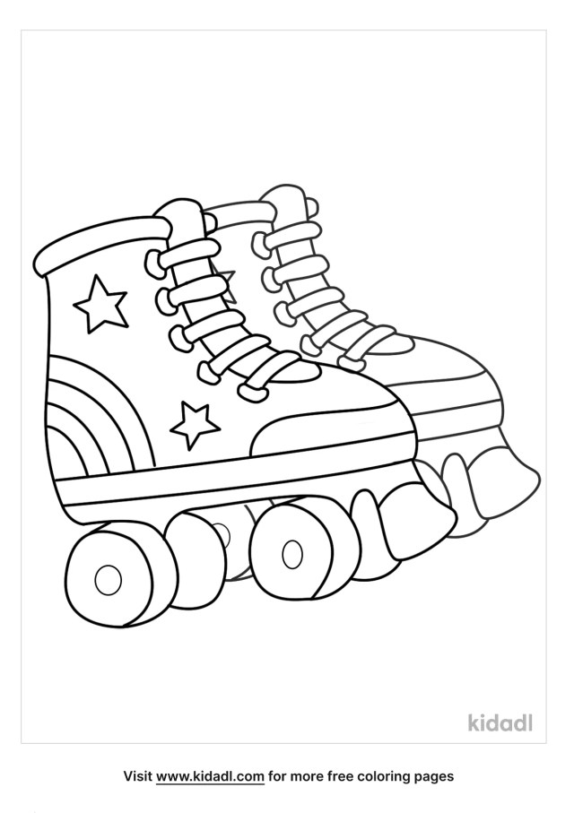 Retro Roller Skate Coloring Pages  Free Fashion & Beauty Coloring