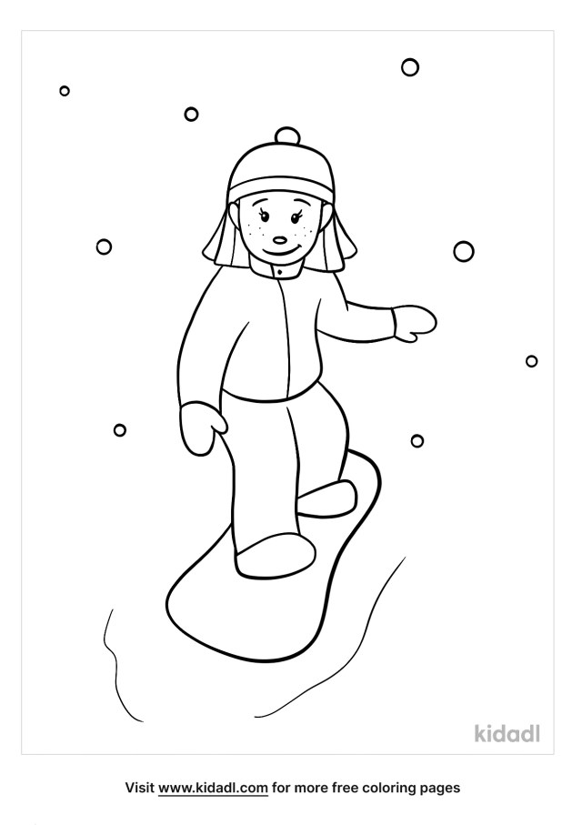 Snowboarding Coloring Pages  Free People Coloring Pages  Kidadl