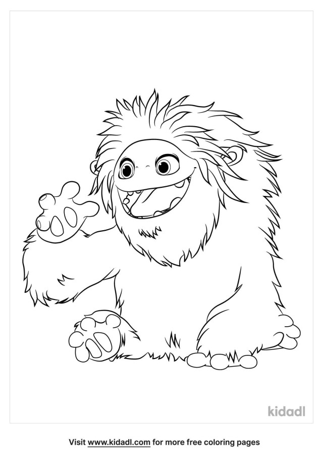 Yeti Coloring Pages  Free Fairytales & Stories Coloring Pages