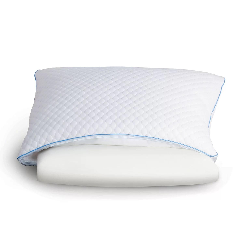 sealy memory foam down alternative pillow