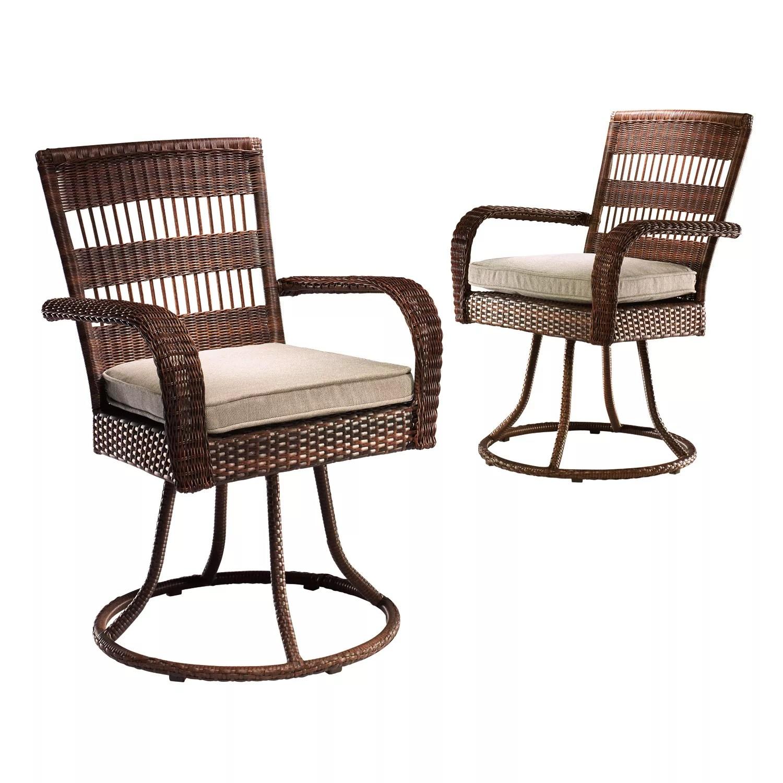 sonoma goods for life presidio 2 pc swivel patio dining chair set