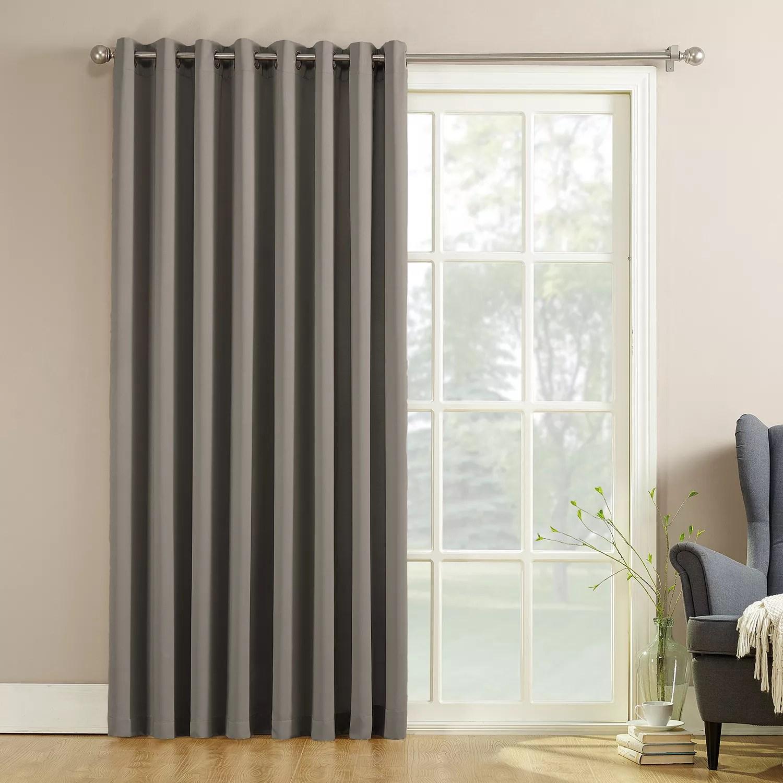 sun zero 1 pack gramercy room darkening patio door window curtain 100 x 84
