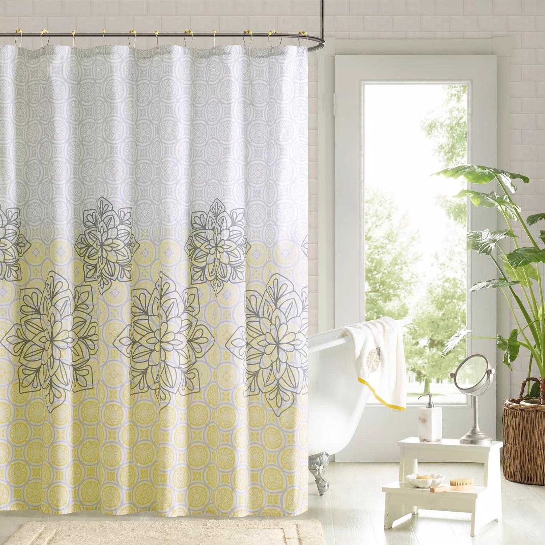 90 by design lab tamara 14 pc fabric shower curtain hook set