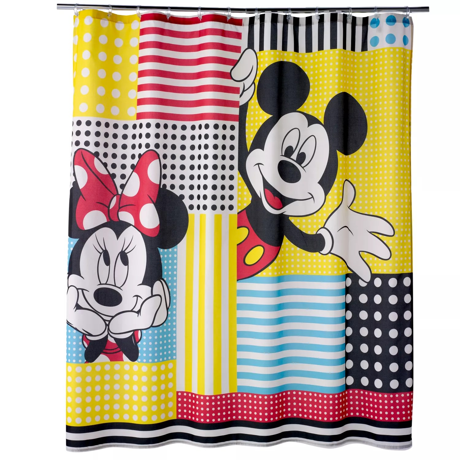 disney s mickey minnie mouse fabric shower curtain by jumping beans