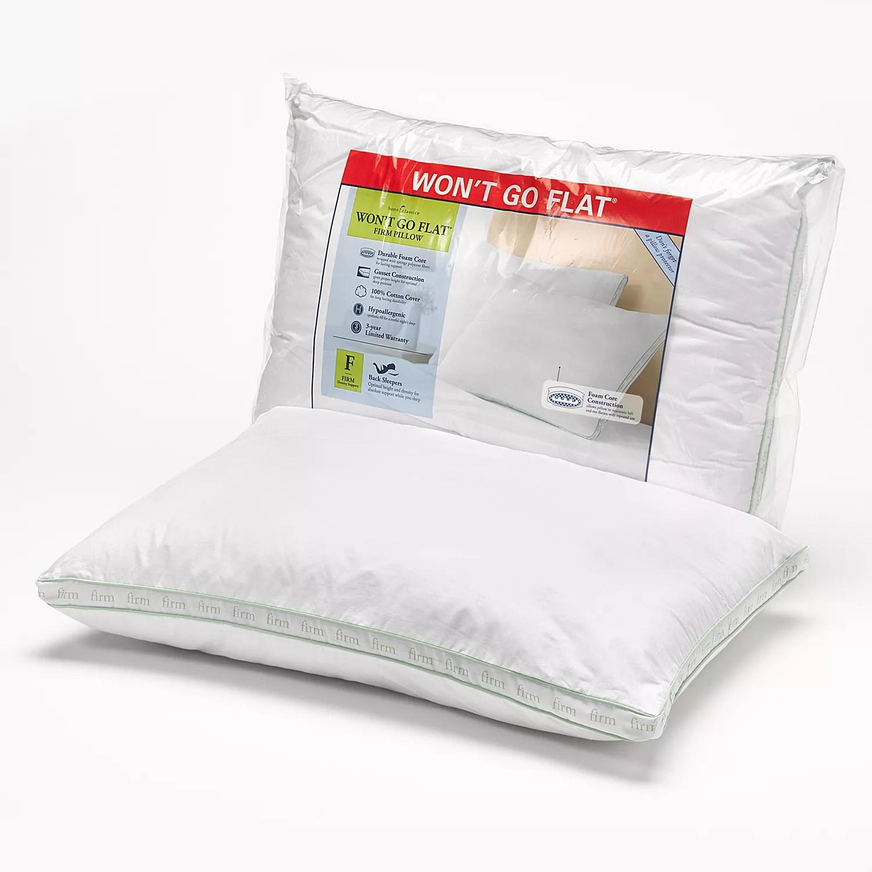 home classics won t go flat firm pillow