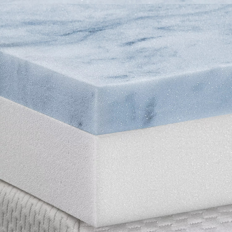Health O Pedic 4 In Gel Memory Foam Mattress Topper