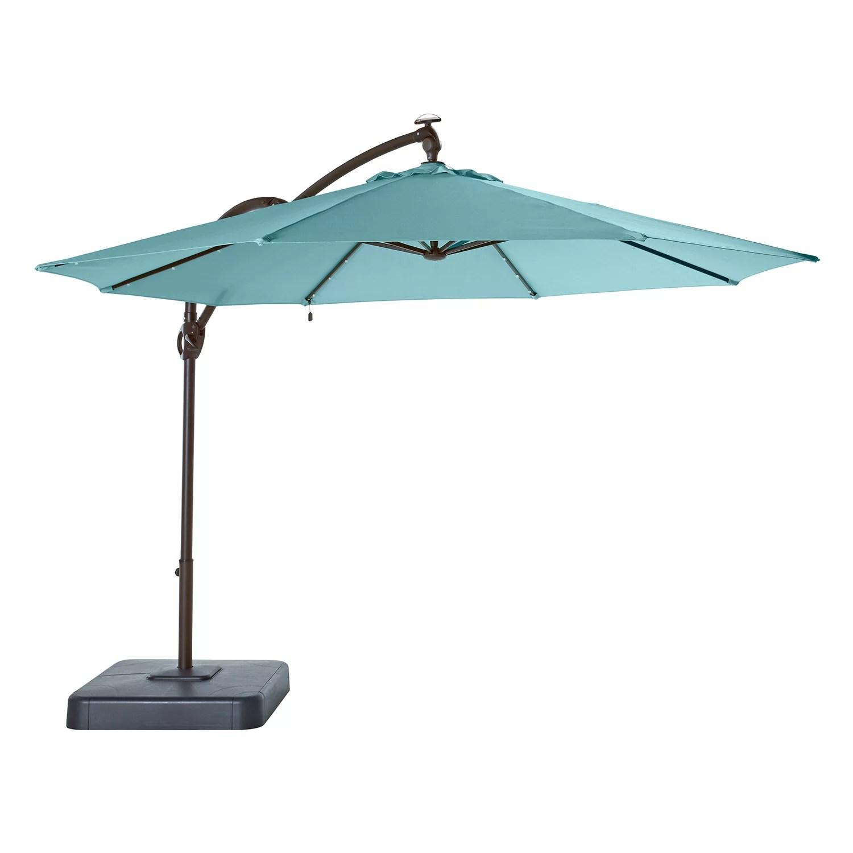 sonoma goods for life cantilever led solar umbrella