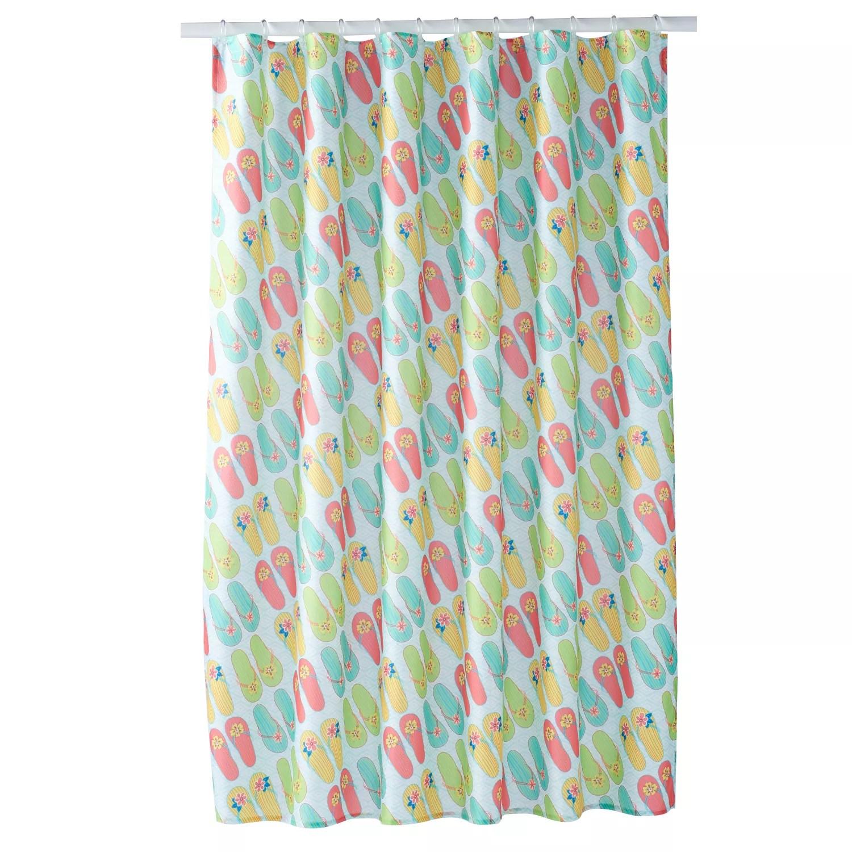 together flip flop shower curtain