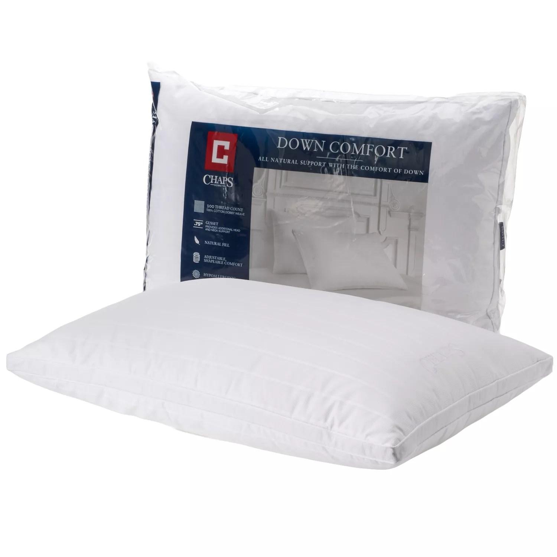 chaps home down comfort medium support pillow