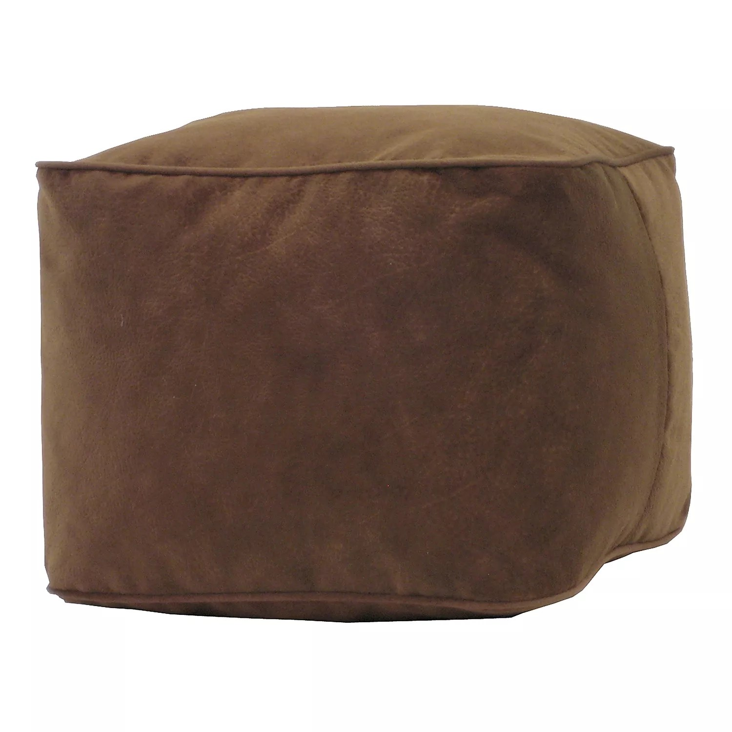 medium microfiber faux suede bean bag ottoman