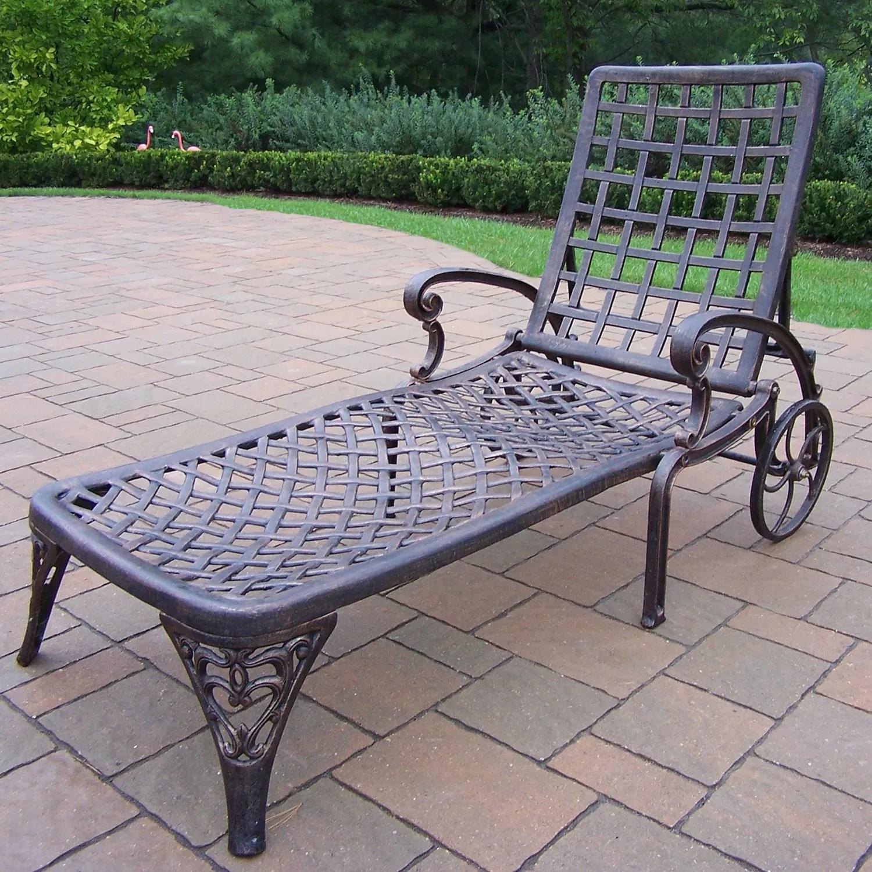 elite cast aluminum outdoor chaise lounge