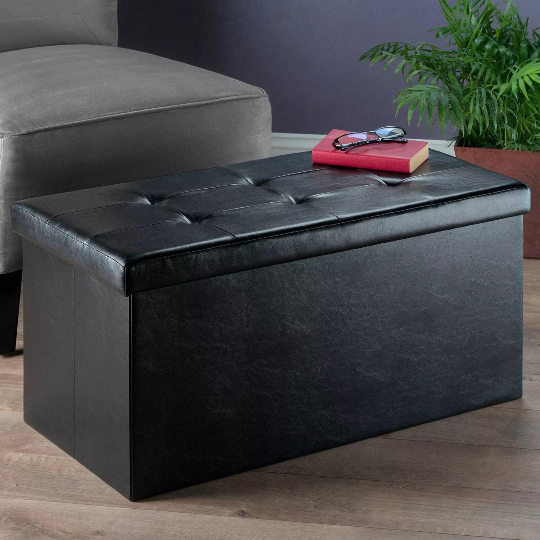 winsome ashford tufted coffee table storage ottoman