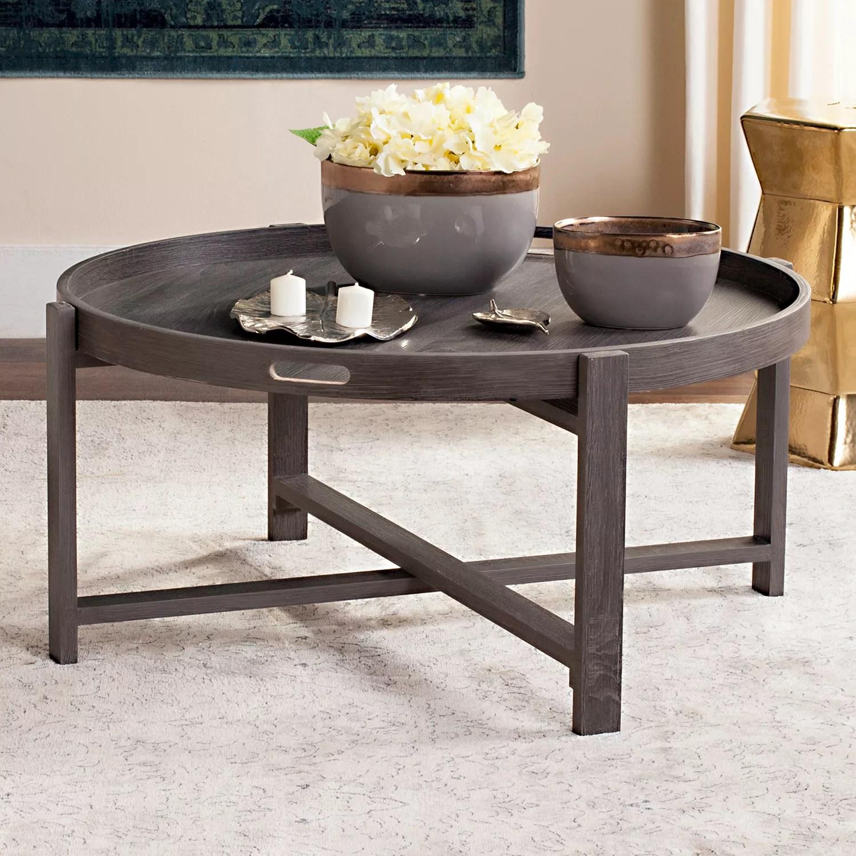 safavieh mid century modern tray top coffee table