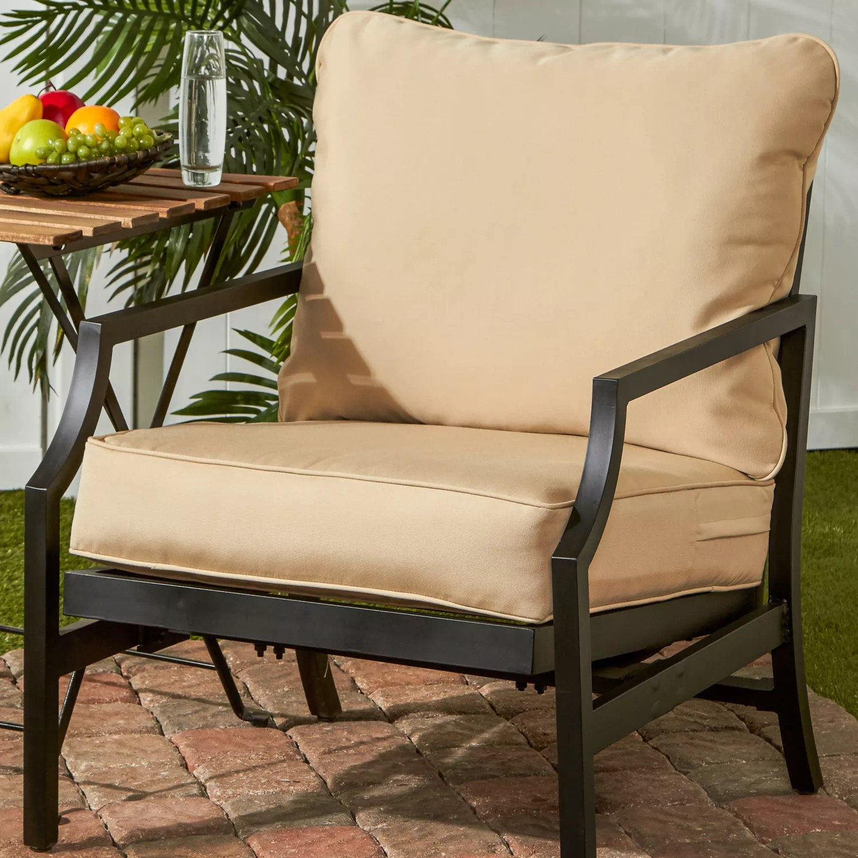 greendale home fashions deep seat cushion back pillow set