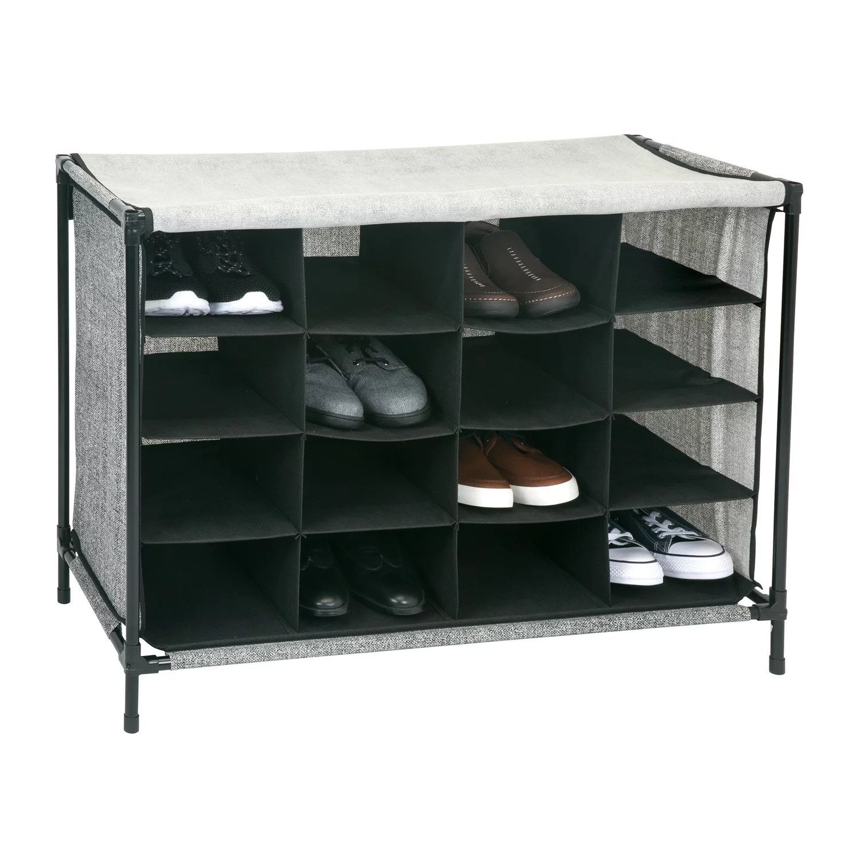 simplify 16 compartment shoe storage cubby