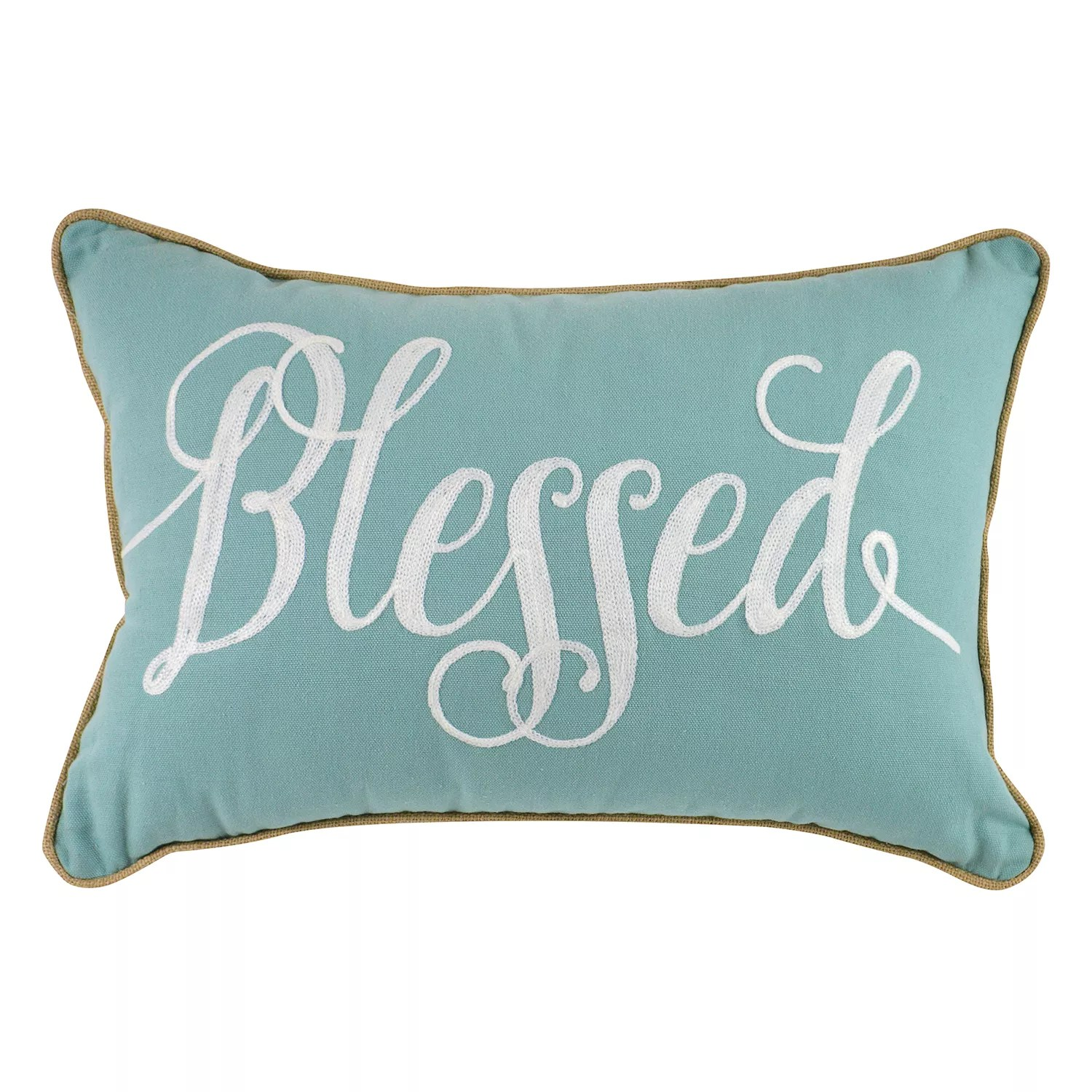blessed oblong throw pillow