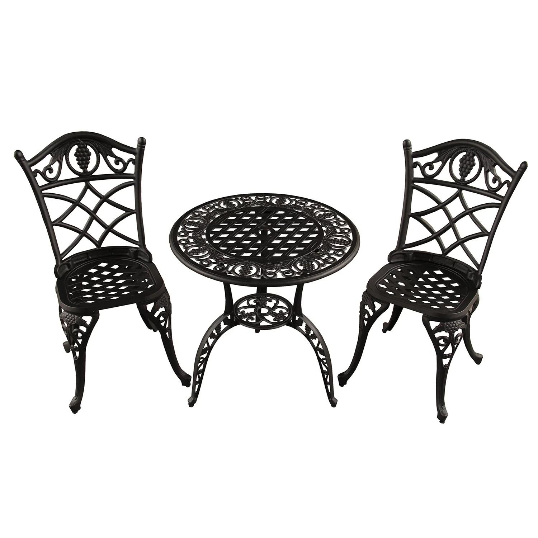 grape vineyard indoor outdoor chair bistro table 3 piece set