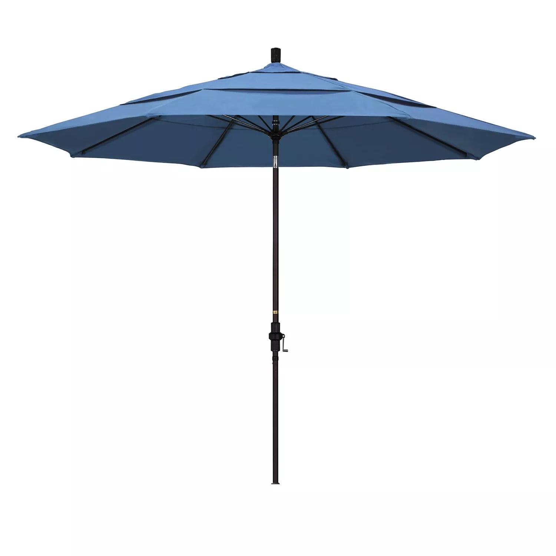 california umbrella 11 ft sun master bronze finish patio umbrella