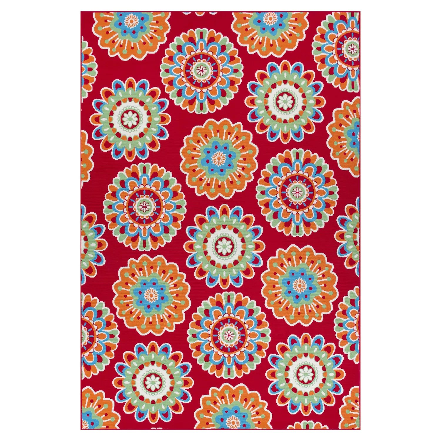 sonoma goods for life floral medallion indoor outdoor area and throw rug