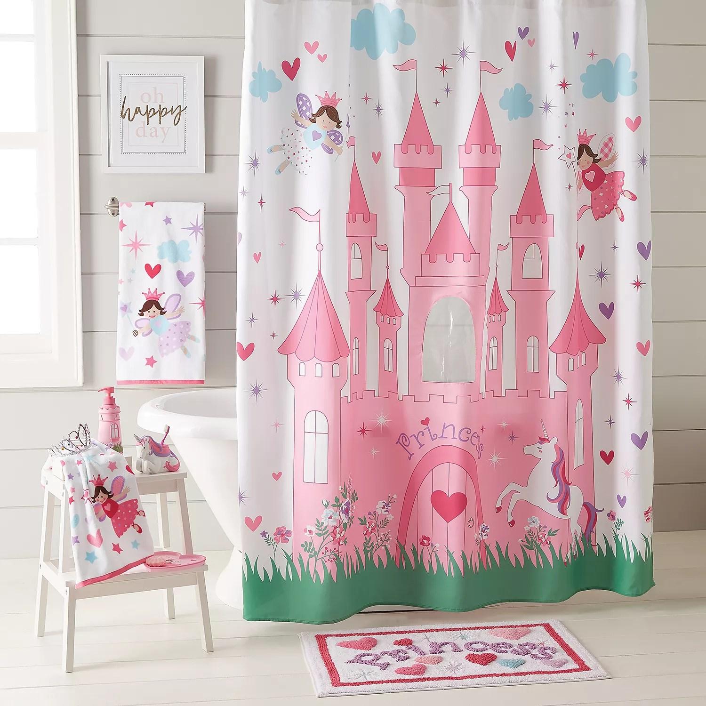 magical princess peek a boo shower curtain