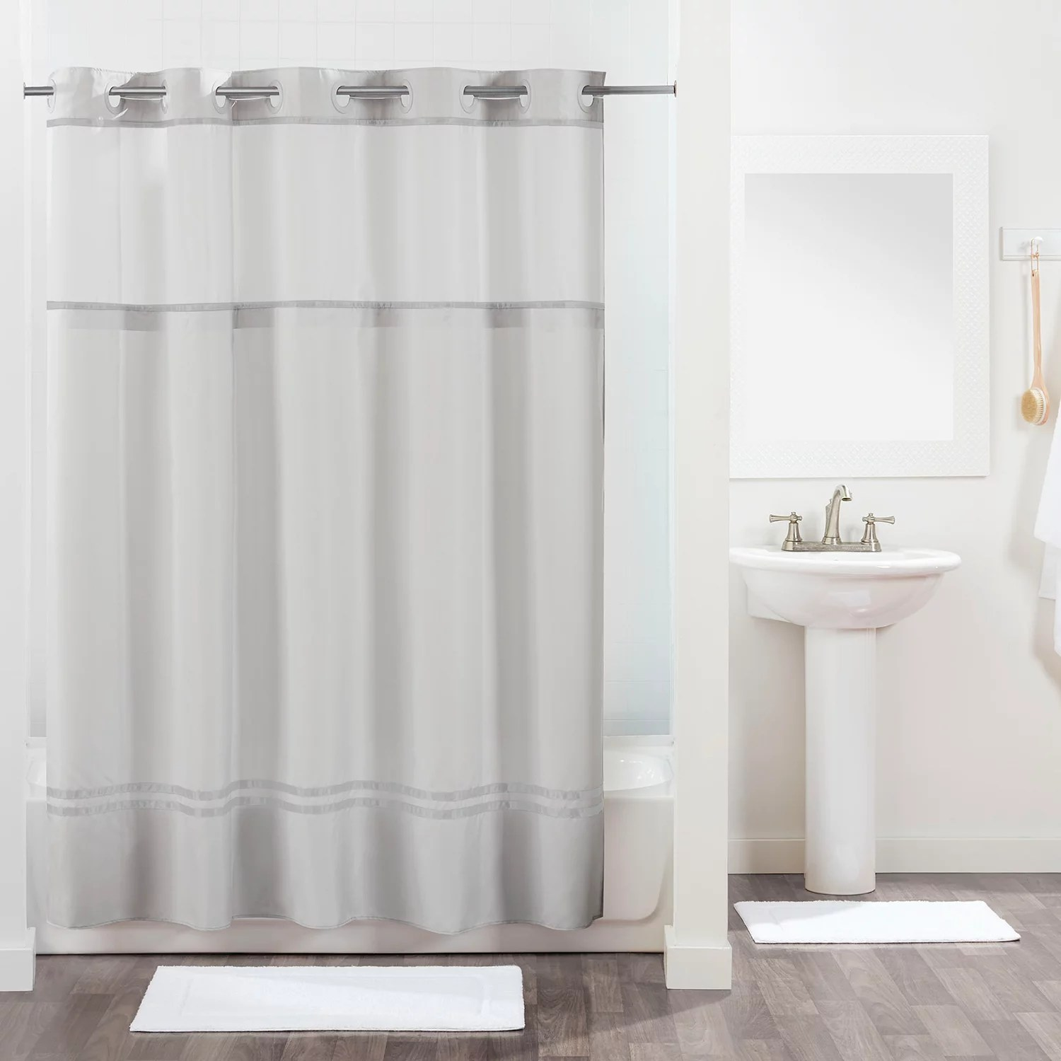 hookless monterey shower curtain and liner