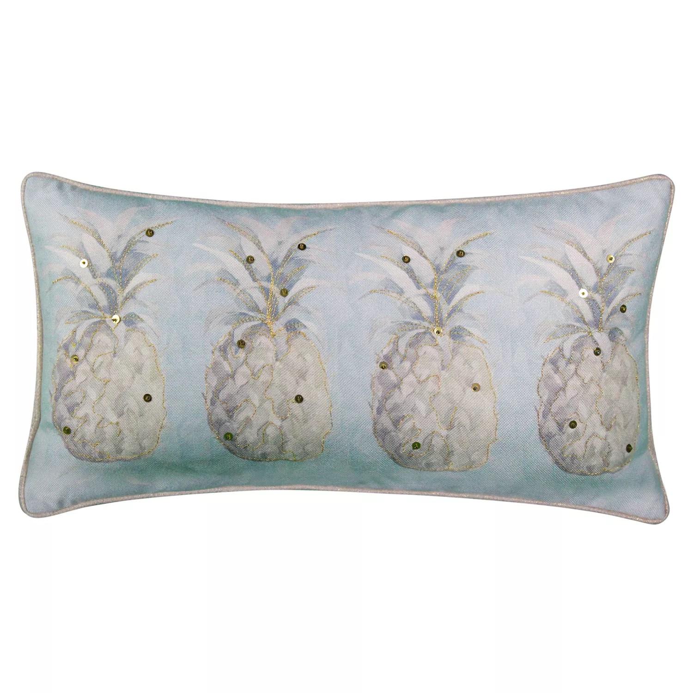 edie home modern pineapple sequined lumbar throw pillow
