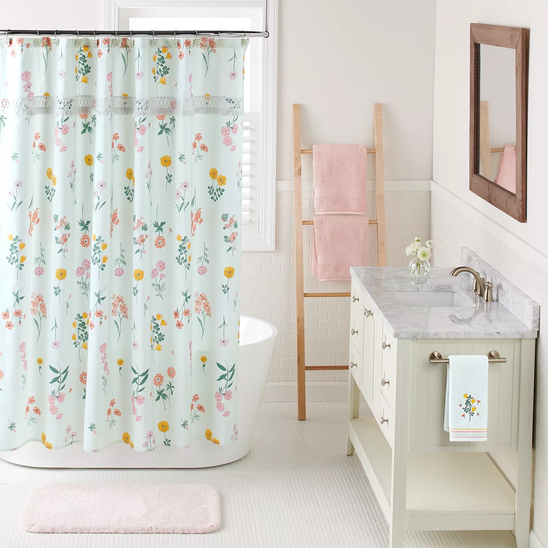 lc lauren conrad floral shower curtain