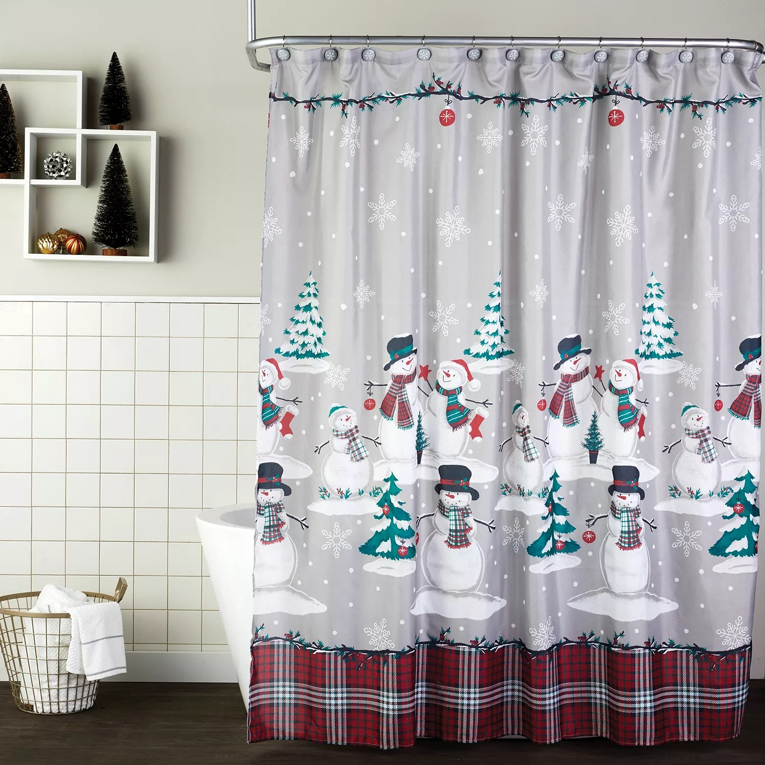 christmas shower curtains find festive