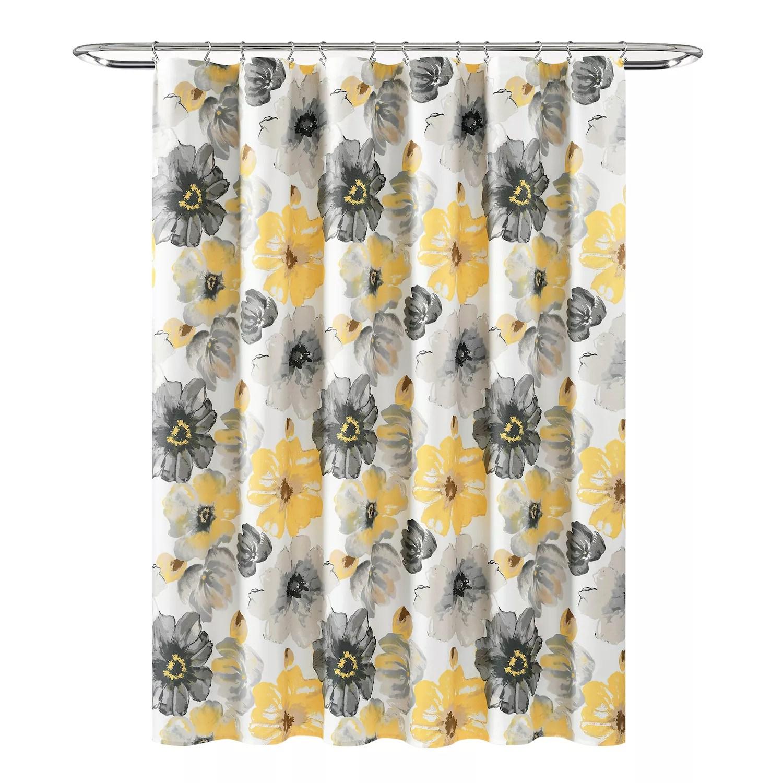 lush decor night sky fabric shower curtain