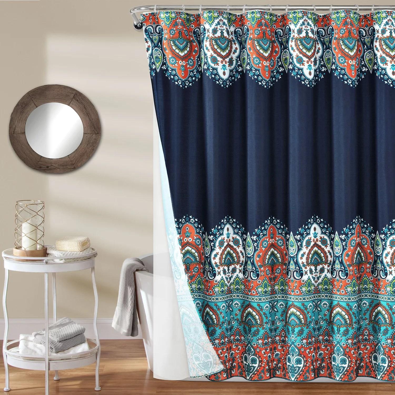 lush decor 14 piece bohemian meadow shower curtain set