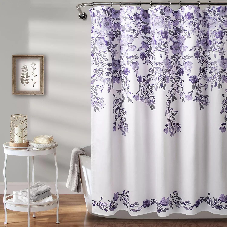 purple shower curtain kohl s