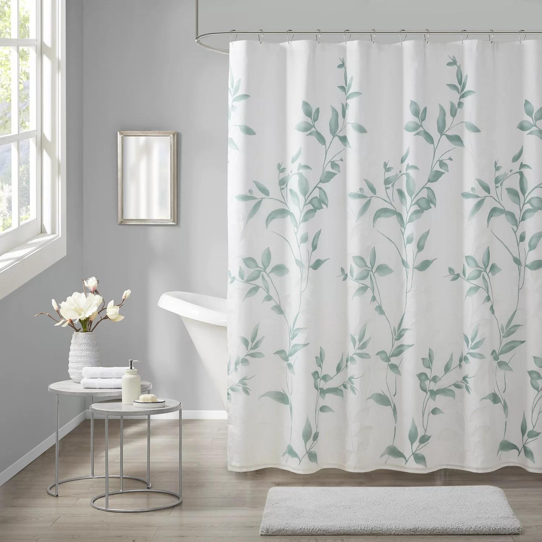 green shower curtain kohl s