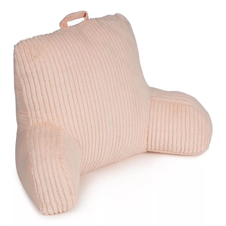 the big one cut plush stripe backrest pillow
