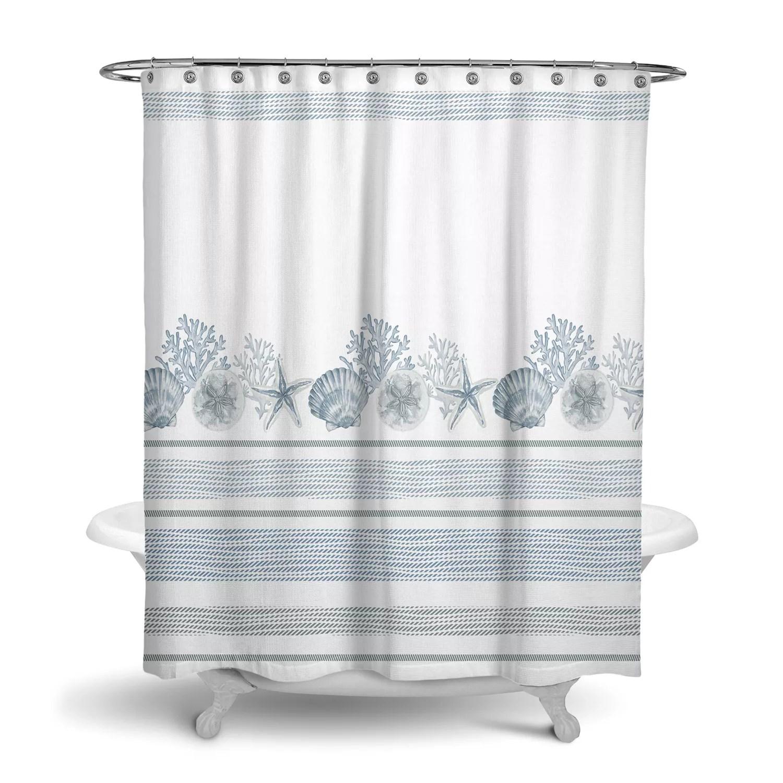 life coastal printed shower curtain