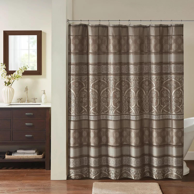 madison park essentials alexine jacquard shower curtain