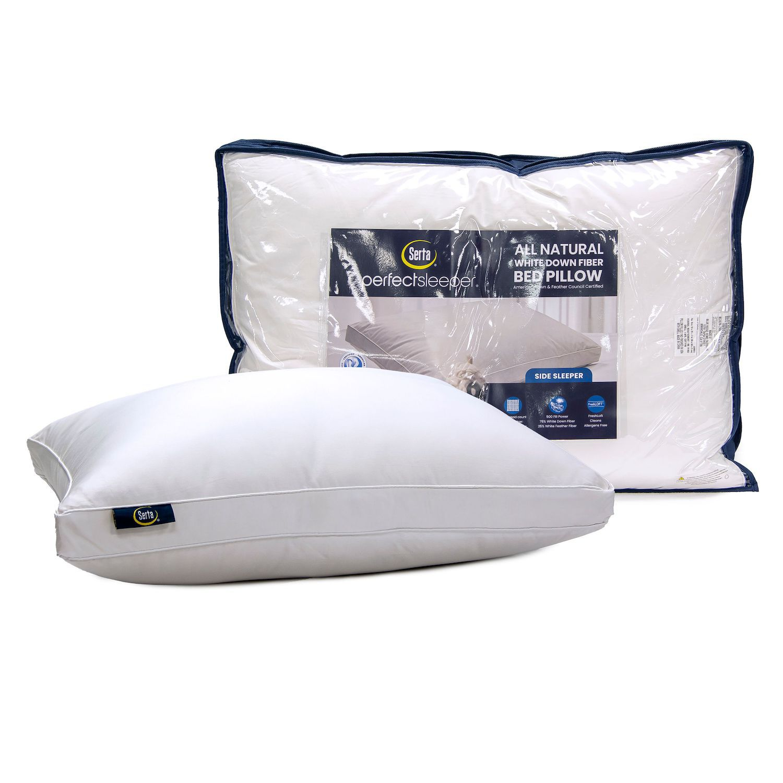 serta white down side sleeper pillow