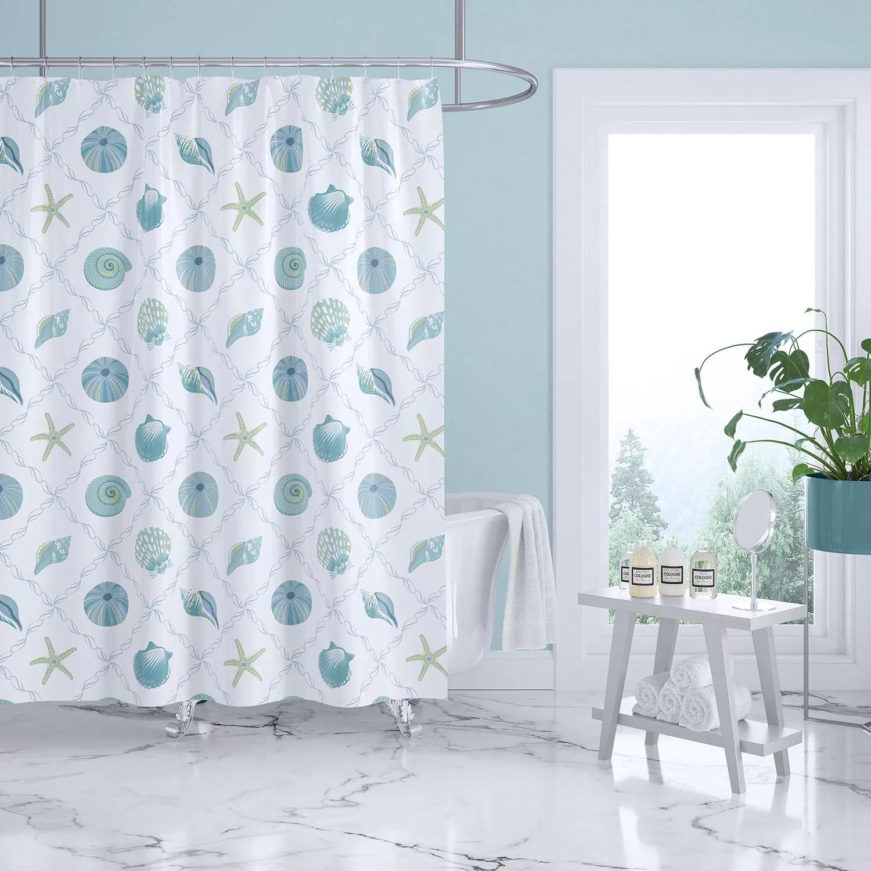 levtex home marine dream seaglass shower curtain