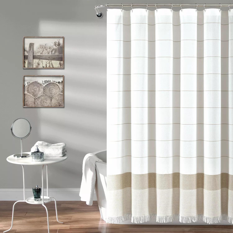 lush decor stripe tassel fringe shower curtain