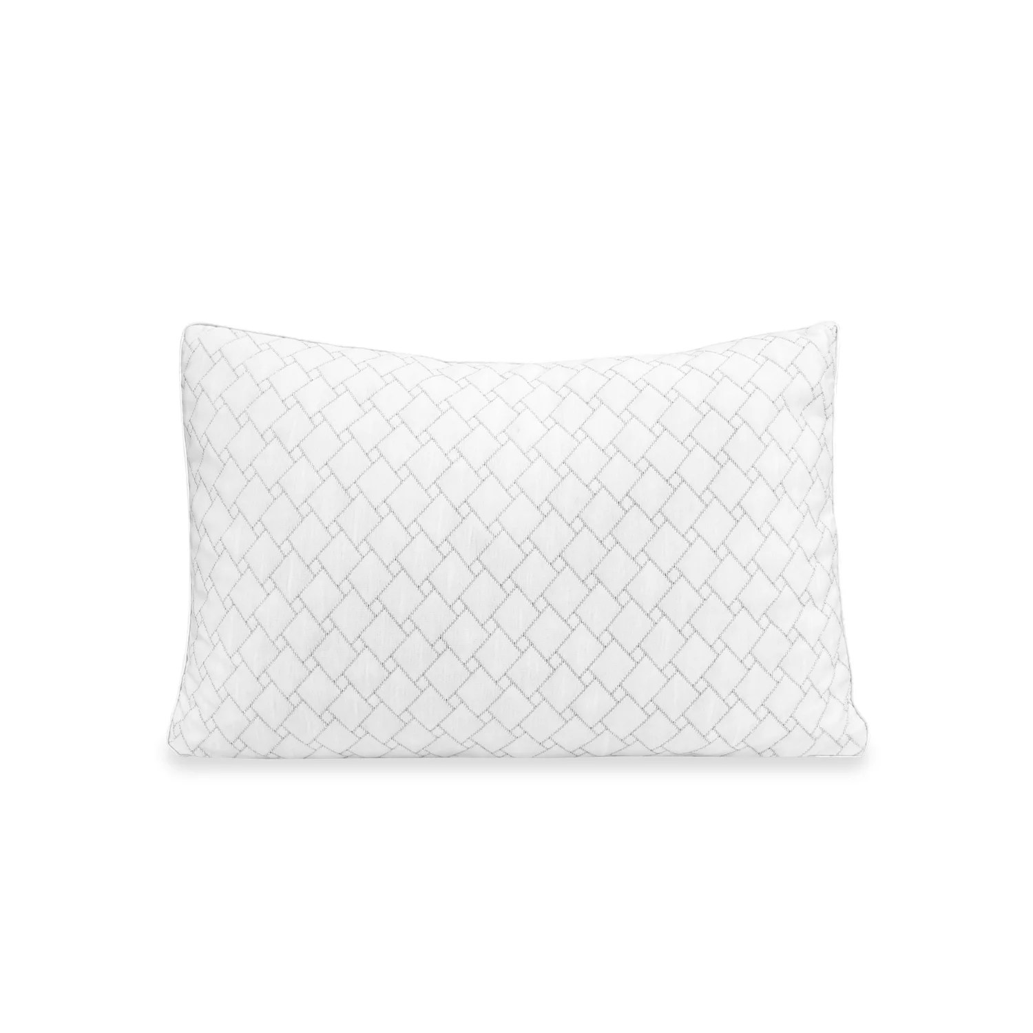 sensorpedic wellness collection supportive memory foam cluster pillow with charcoal infused cover