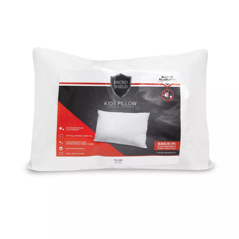 sensorpedic microshield kids fiber bed pillow