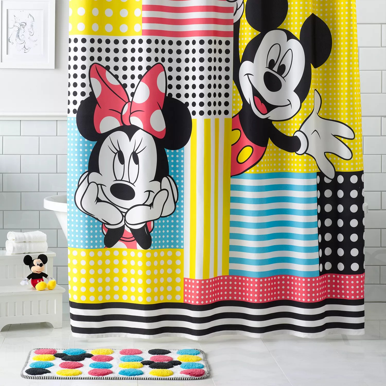 mickey minnie mouse shower curtain