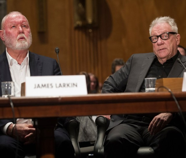 Former Backpage Com Owners James Larkin Left And Michael Lacey Appear On Capitol Hill In Washington On Jan   Before The Senate Homeland