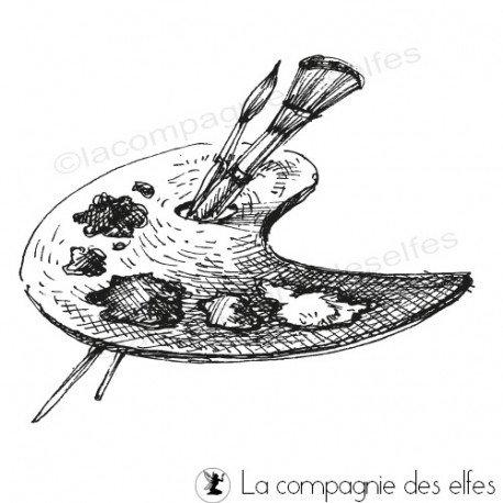 Tampon Palette Peinture La Compagnie Des Elfes