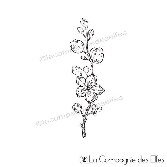 Tampon Fleurs De Cerisier La Compagnie Des Elfes