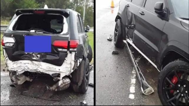 Fatura Broun protagonizó un espectacular accidente cuando iba a entrenar