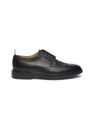 Pebble grain leather brogue Derbies