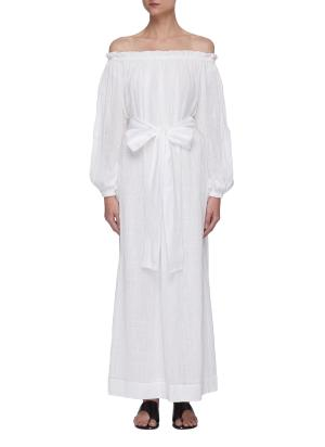 Pegasi belted beach gown