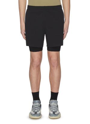 Double knit mesh performance running shorts